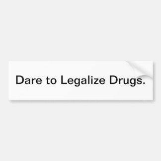 Legalice las drogas - pegatina para el parachoques pegatina para auto