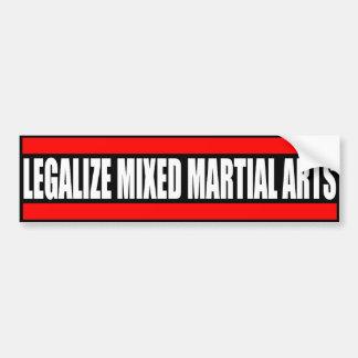 Legalice los artes marciales mezclados - pegatina  pegatina para auto