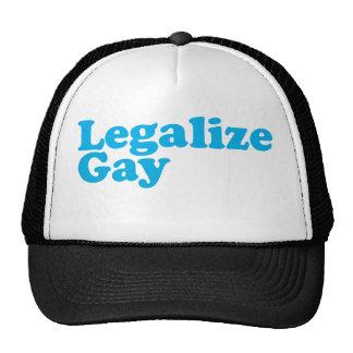 Legalice los azules cielos gay gorros bordados
