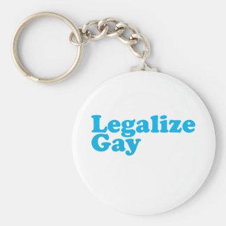 Legalice los azules cielos gay llavero redondo tipo pin