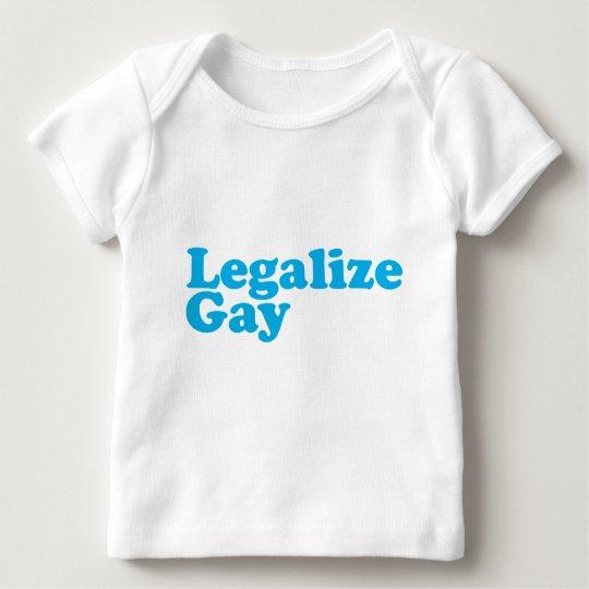 Legalice los azules cielos gay playera de bebé