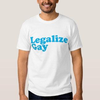 Legalice los azules cielos gay playeras