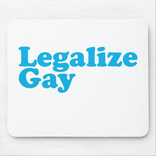 Legalice los azules cielos gay tapete de ratón