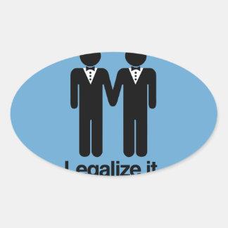 LEGALICE LOS BODAS GAY - .PNG PEGATINA OVALADAS PERSONALIZADAS