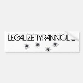 """Legalice pegatina para el parachoques del tiranic Pegatina De Parachoque"