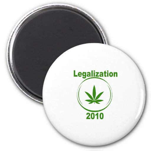 Legalization of Prop 19 2010 2 Inch Round Magnet