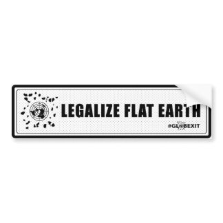 Legalize Flat Earth Bumper Sticker (black)