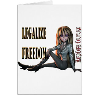 legalize freedom 2 greeting card