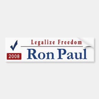Legalize Freedom Car Bumper Sticker