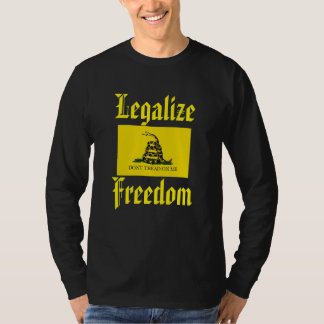 Legalize Freedom - Don't Tread on Me, Gadsden Flag T-Shirt