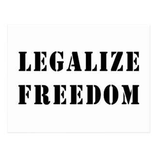 Legalize Freedom Postcard