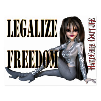 legalize freedom post card