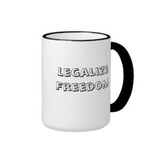 Legalize Freedom Ringer Coffee Mug