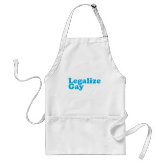 Legalize gay baby blue adult apron