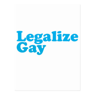 Legalize gay baby blue postcard