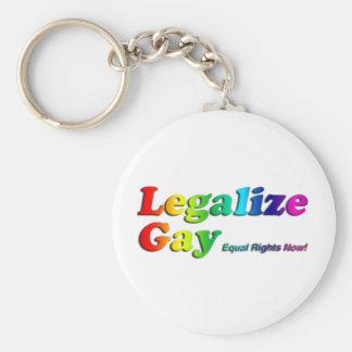 Legalize Gay Basic Round Button Keychain