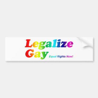 Legalize Gay Bumper Sticker