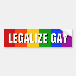 LEGALIZE GAY BUMPER STICKERS