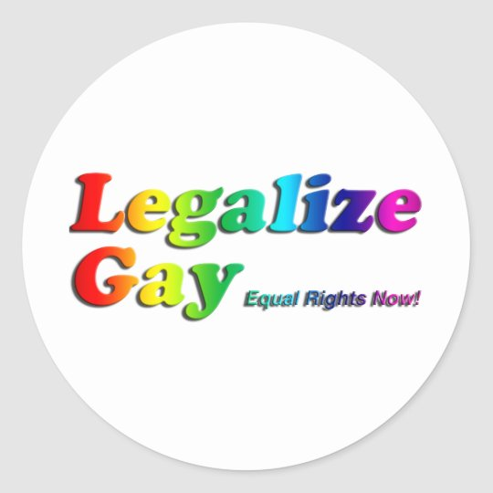 Legalize Gay Classic Round Sticker