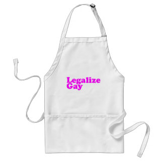 Legalize Gay pink Adult Apron