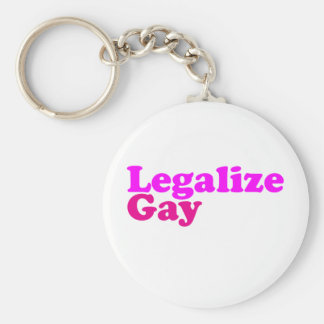 legalize gay pink magenta basic round button keychain
