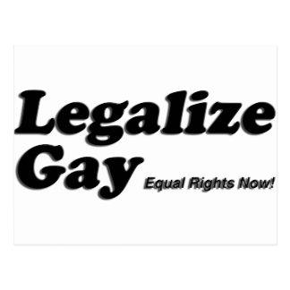 Legalize Gay Postcard