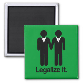 LEGALIZE GAY WEDDINGS 2 INCH SQUARE MAGNET