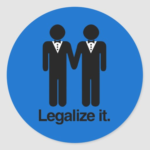 LEGALIZE GAY WEDDINGS ROUND STICKER