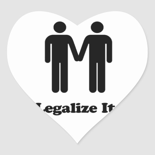 Legalize It - Marriage Equality Heart Sticker