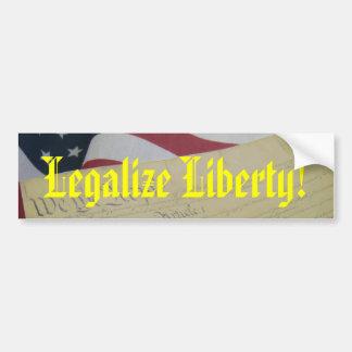 Legalize Liberty Bumper Sticker