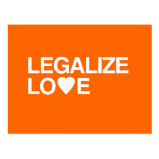 LEGALIZE LOVE POST CARDS