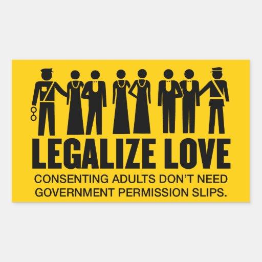 Legalize Love Rectangular Sticker