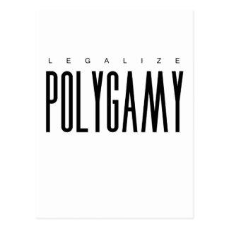 Legalize Polygamy Postcard