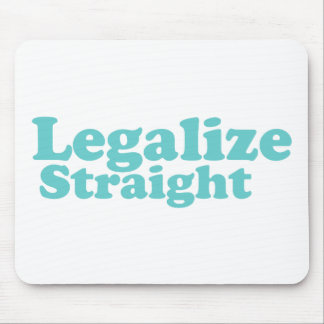 Legalize straight blue mouse pad