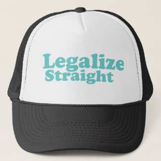 Legalize straight blue trucker hat