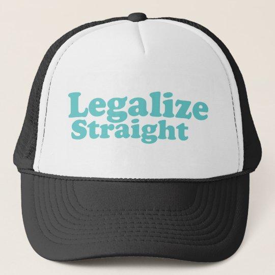 Legalize straight blue trucker hat