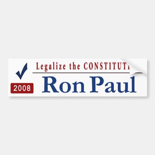 Legalize_the_Constitution Car Bumper Sticker