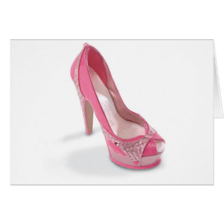 legally pink shoes greeting card