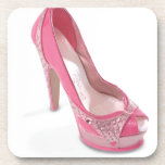 legally pink shoes coaster