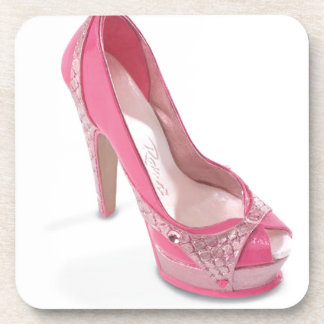 legally pink shoes beverage coasters