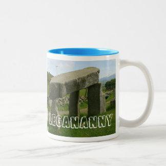 Legananny Dolmen, Megalith, Northern Ireland Two-Tone Coffee Mug
