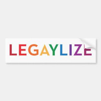 Legaylize (igualdad del matrimonio homosexual de l pegatina para auto
