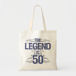 Legend 50th Birthday Tote Bag