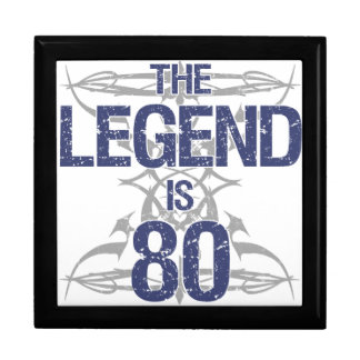 Legend 80th Birthday Jewelry Box