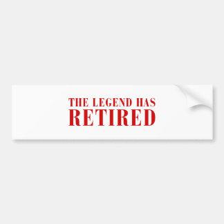 legend-has-retired-BOD-BROWN.png Bumper Sticker