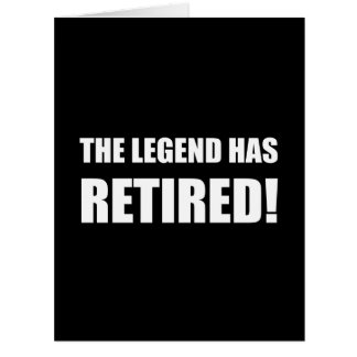 Legend Has Retired Card