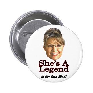 legend in mind pinback button