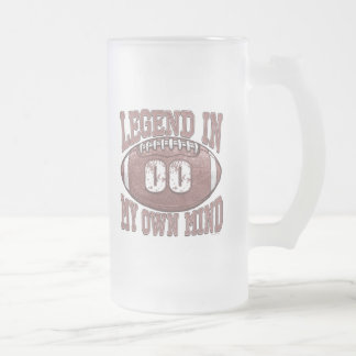 Legend in My Own Mind 00 Football Gear Frosted Glass Beer Mug