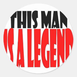 LEGEND.jpg Classic Round Sticker