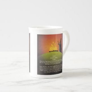 Legend of Saint Patrick and the Paschal Fire Tea Cup
